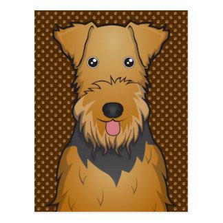 Patas del dibujo animado del perro de Airedale Ter Tarjeta Postal