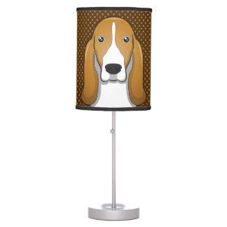 Patas del dibujo animado del perro de Basset Hound Lámpara De Escritorio