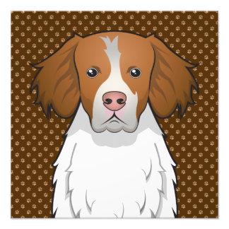 Patas del dibujo animado del perro de Bretaña