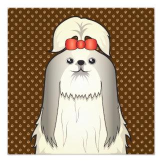 Patas del dibujo animado del perro de Shih Tzu