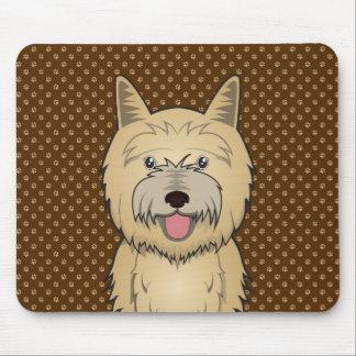 Patas del dibujo animado del perro de Terrier de m Tapetes De Raton