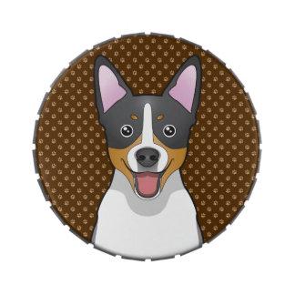 Patas del dibujo animado del perro de Terrier de r Latas De Dulces