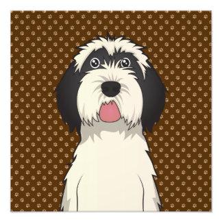 Patas del dibujo animado del perro de Terrier tibe Impresion Fotografica