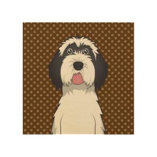 Patas del dibujo animado del perro de Terrier tibe Cuadros De Madera