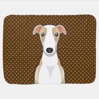 Patas del dibujo animado del perro de Whippet Mantas De Bebé