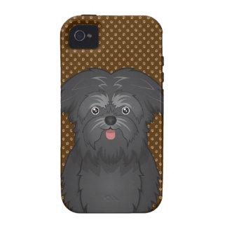 Patas del dibujo animado del perro del Affenpinsch Case-Mate iPhone 4 Carcasa
