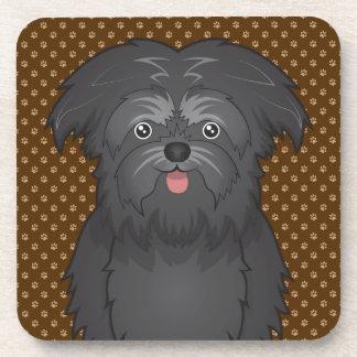Patas del dibujo animado del perro del Affenpinsch Posavasos De Bebida
