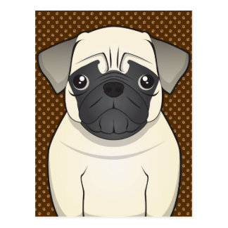 Patas del dibujo animado del perro del barro postal