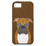 Patas del dibujo animado del perro del boxeador iPhone 5 funda