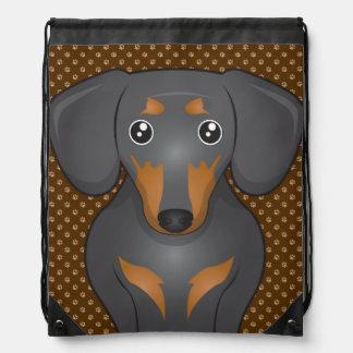 Patas del dibujo animado del perro del Dachshund Mochilas