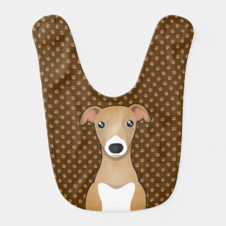 Patas del dibujo animado del perro del galgo itali baberos