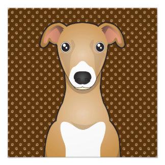 Patas del dibujo animado del perro del galgo itali fotografías