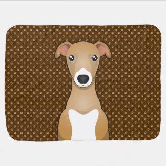 Patas del dibujo animado del perro del galgo itali mantas de bebé