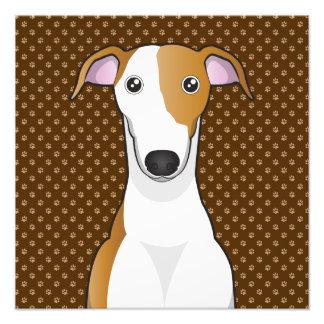 Patas del dibujo animado del perro del galgo impresion fotografica