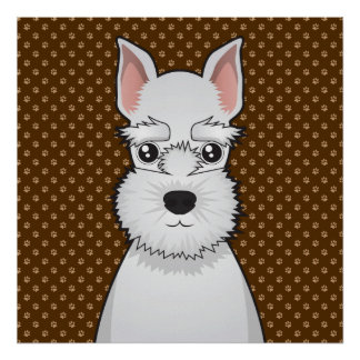 Patas del dibujo animado del perro del Schnauzer m Impresiones