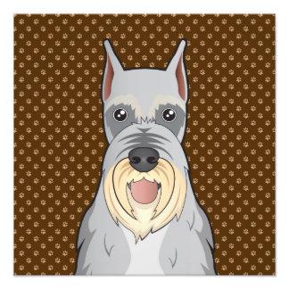 Patas del dibujo animado del perro del Schnauzer Impresiones Fotográficas