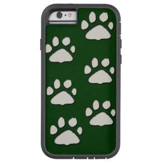 patas del gato en la caja verde del iPhone Funda De iPhone 6 Tough Xtreme