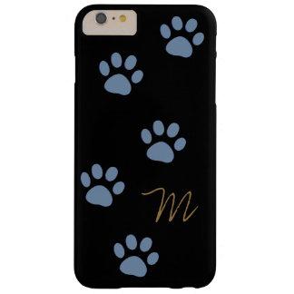 patas del gato personalizadas funda de iPhone 6 plus barely there