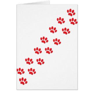Patas del gato tarjeta de felicitación