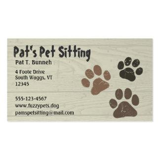 Patas del mascota tarjetas de visita
