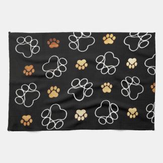 Patas del perrito toallas de cocina