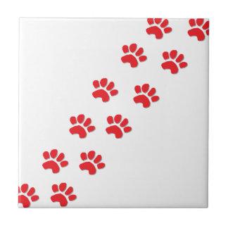 Patas del perro azulejo cuadrado pequeño