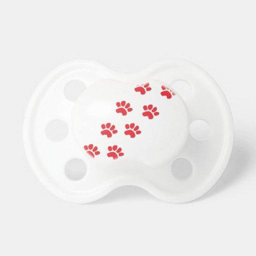 Patas del perro chupetes de bebe