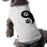 Patas del perro de Yin Yang Playera Sin Mangas Para Perro