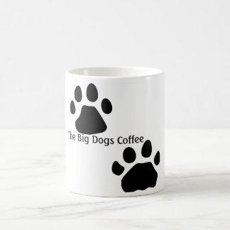 Patas del perro, el café grande de los perros taza básica blanca