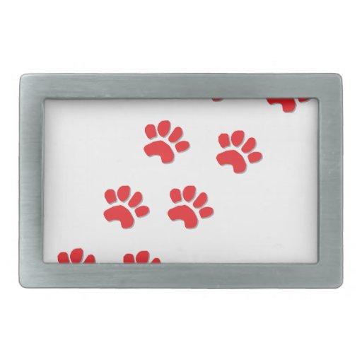 Patas del perro hebillas de cinturón rectangulares