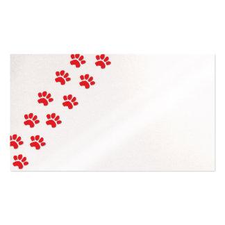 Patas del perro/patas animales tarjetas de visita
