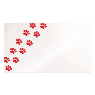 Patas del perro/patas animales plantilla de tarjeta de negocio