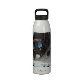 Patas escarchadas del gato siamés - BiHrLe Botella De Agua