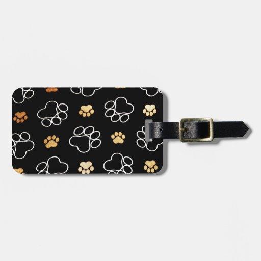 Patas lindas del perro etiqueta para maleta