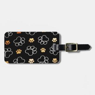 Patas lindas del perro etiqueta para equipaje