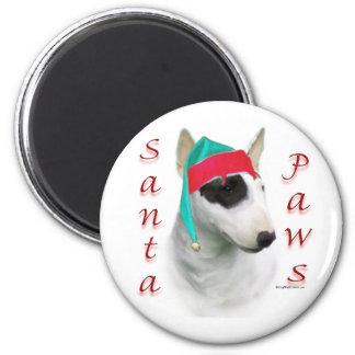 Patas miniatura de bull terrier Santa Imán Para Frigorifico