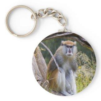 Patas Monkey Keychain