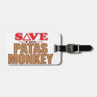 Patas Monkey Save Bag Tag