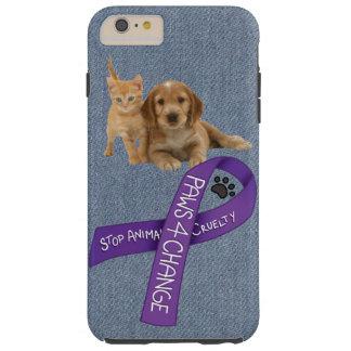Patas para el cambio, crueldad del animal de la funda resistente iPhone 6 plus