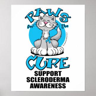 Patas para el escleroderma del gato de la curación impresiones