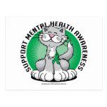Patas para el gato de la salud mental tarjetas postales