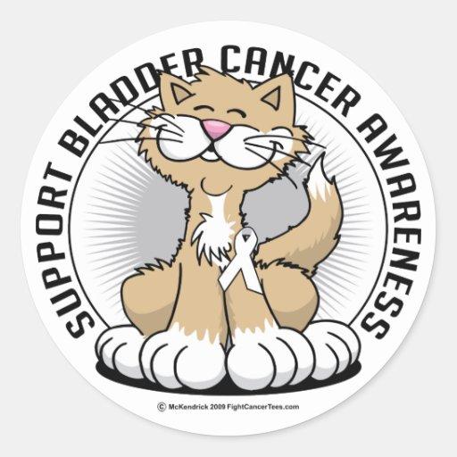 Patas para el gato del cáncer de hueso etiquetas redondas