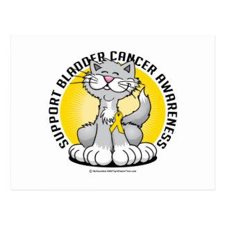 Patas para el gato del cáncer de vejiga tarjeta postal