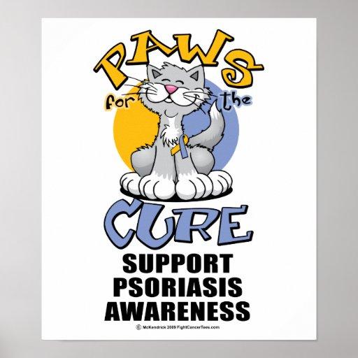 Patas para el psoriasis del gato de la curación impresiones