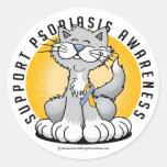 Patas para el psoriasis etiqueta redonda