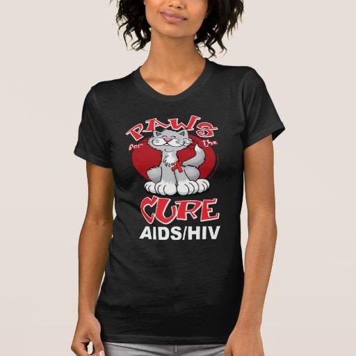 Patas para el SIDA del gato de la curación Camisetas