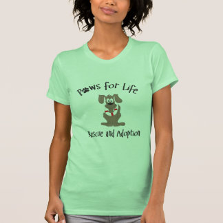 Patas para la camiseta de la vida