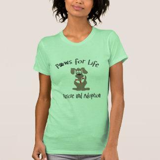 Patas para la camiseta de la vida playera