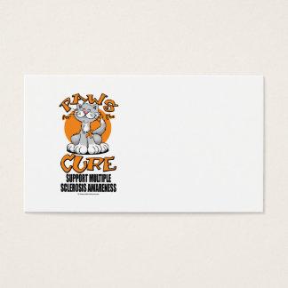 Patas para la esclerosis múltiple del gato de la tarjetas de visita
