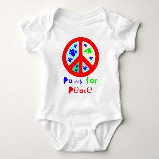 Patas para la paz (roja) body para bebé